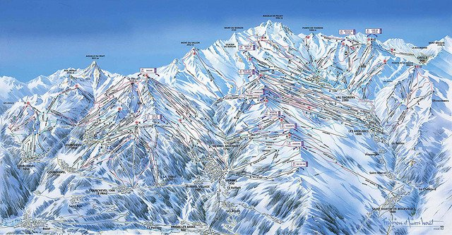 Vacanta de iarna in statiunile de schi din Franta les trois valees