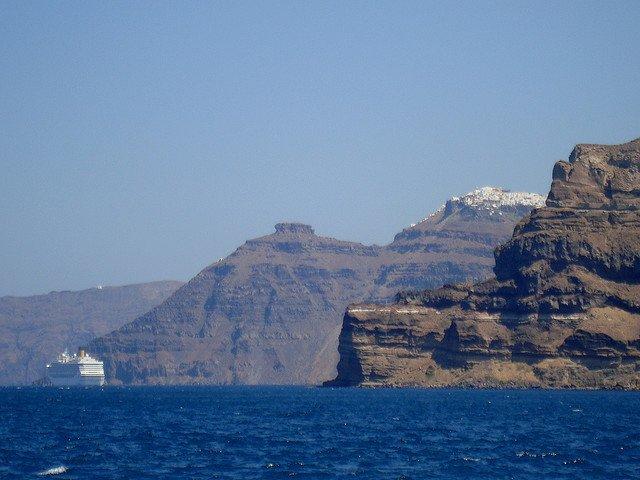 santorini Insulele grecesti: Santorini caldera