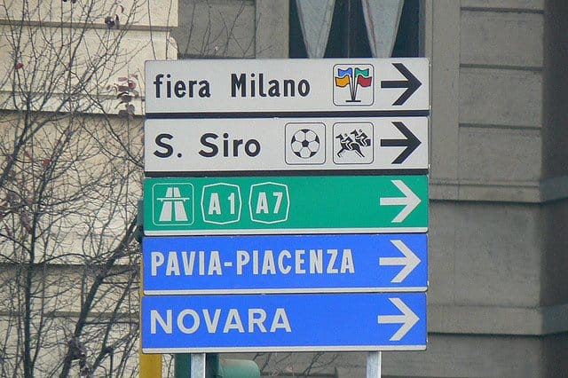 Reguli de sofat in Italia highway