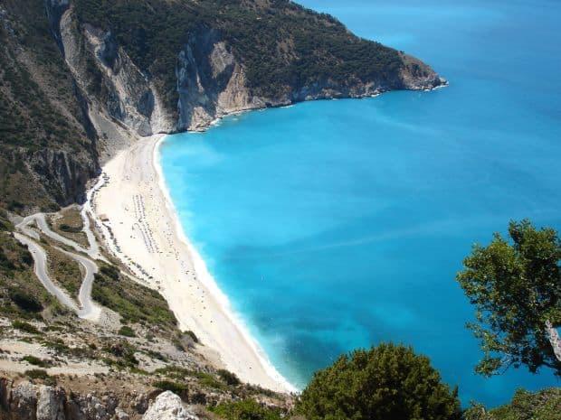 plaje grecia Top 10 insule si plaje din Grecia myrtos