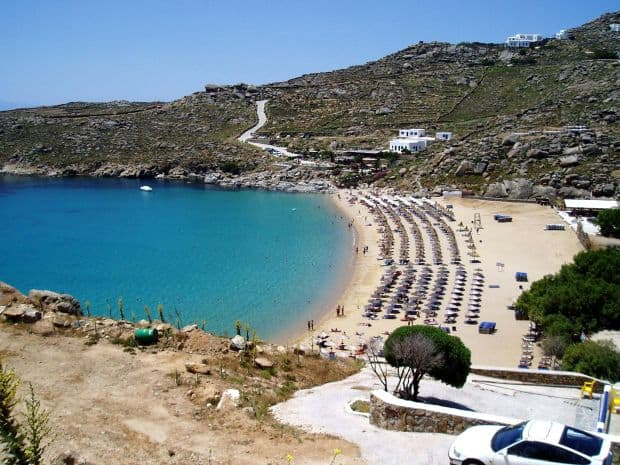 Insulele grecesti: Mykonos paradise beach