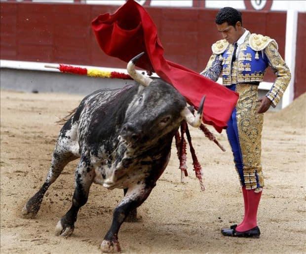 Luptele de tauri din Madrid matador