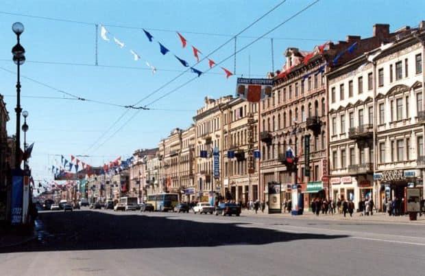 Superbul bulevard Neva, din St. Petersburg neva