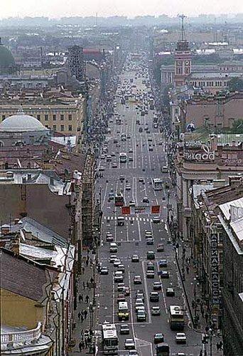 Superbul bulevard Neva, din St. Petersburg nevskyaerial