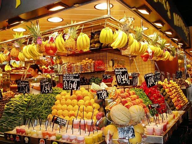 Shopping in Barcelona la boqueria