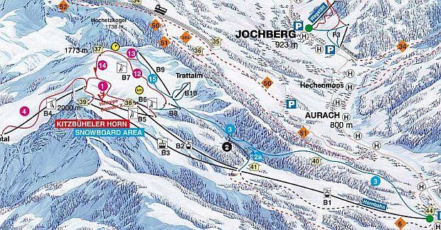 kitzbuhel Unde schiem in Europa: Kitzbuhel (Austria) map kitzbuhel