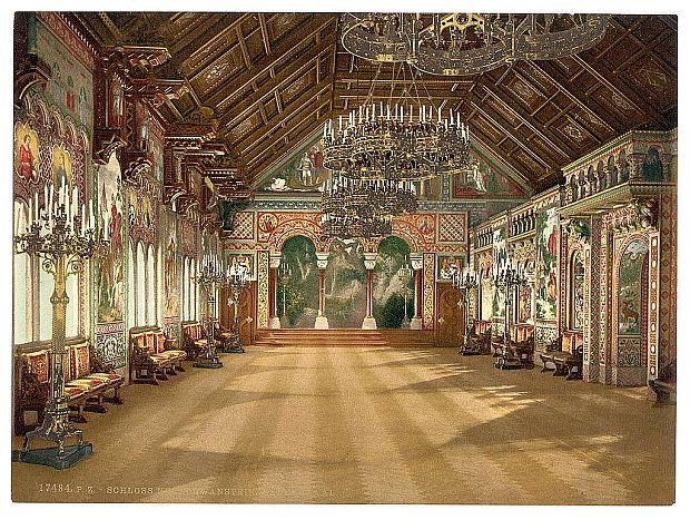 Neuschwanstein: secretul unui castel de poveste sala muzicii