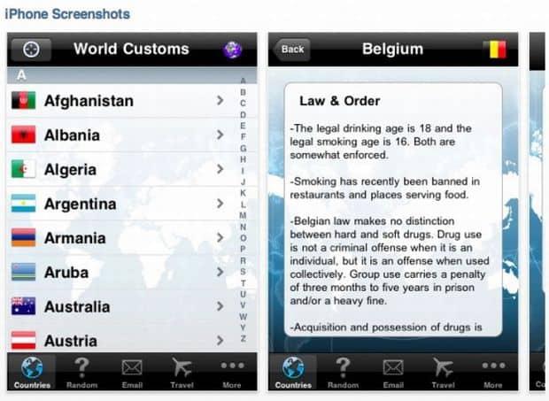 10 aplicatii de calatorie pentru iPhone si iPad 10 aplicatii de calatorie pentru iPhone si iPad World Customs App