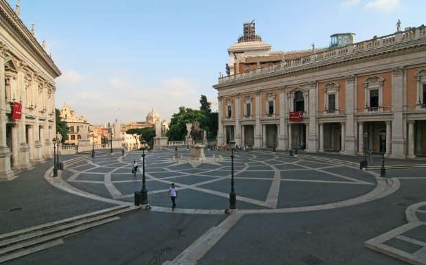 colinele romei Cele 7 coline ale Romei Piazza del Campidoglio