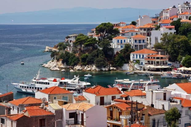skiathos Insulele grecesti: Skiathos - minighid turistic skiathos town