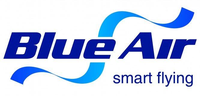 Super-concurs! Castiga doua bilete de avion de la Blue Air! Logo BA