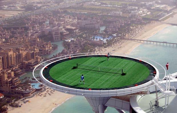 Burj Al Arab, cel mai scump hotel de 7 stele din lume burj tenis