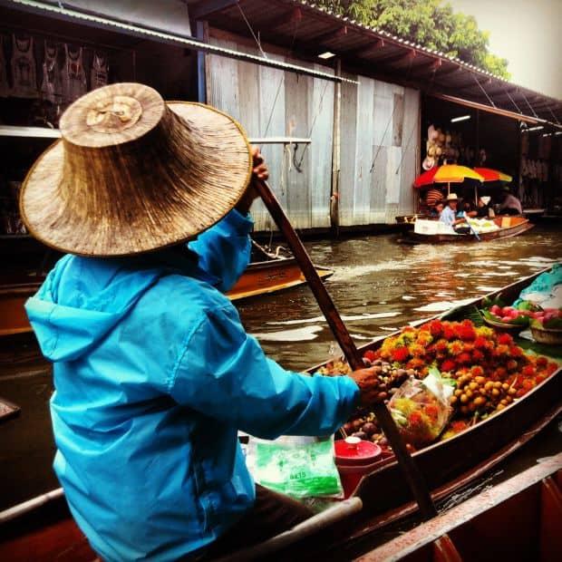 Damnoensaduak Floating Market, Thailand. Photo: Mindy Terry