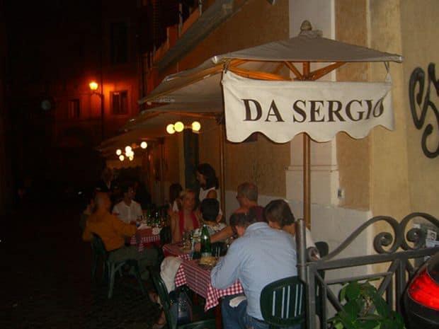 Da Sergio  Cele mai bune restaurante si localuri din Roma Da Sergio