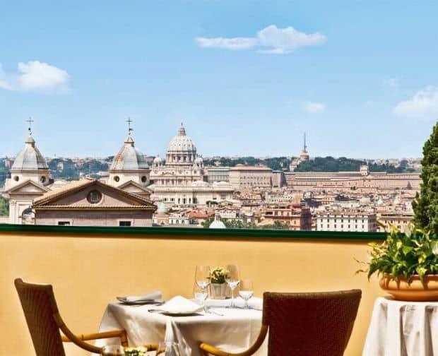 Terasa hotelului Eden  Cele mai bune restaurante si localuri din Roma terrazza eden