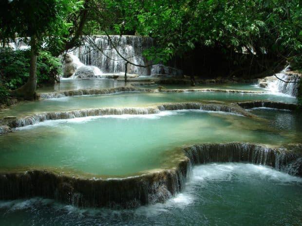 Cascade in... cascada Top 10 aventuri in Laos 100 Waterfalls