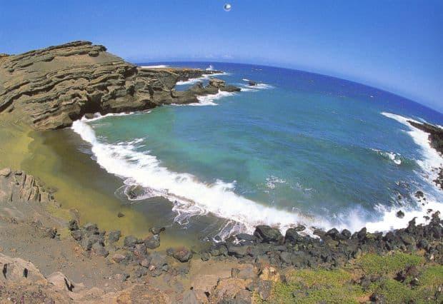 Plaja verde Papakōlea  Cele mai colorate plaje din lume Papak  lea
