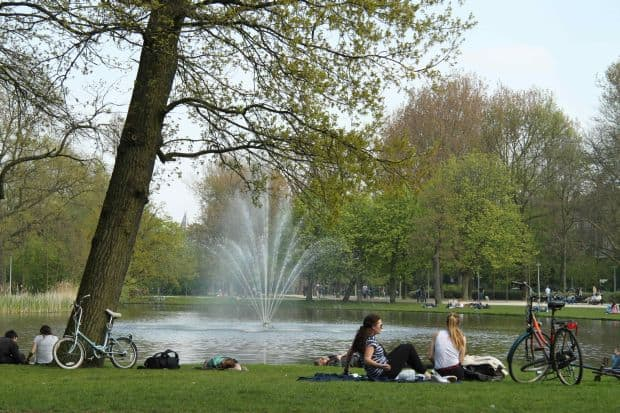 Relaxare totala in Vondelpark