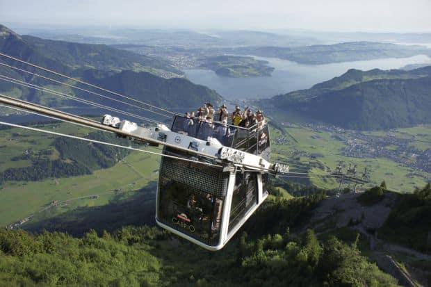 Stanserhornbahn CabriO Cele mai frumoase telegondole din lume cabrio