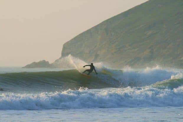 Surfing in Croyde