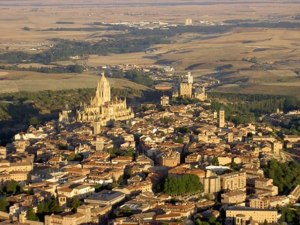 Segovia, vedere aeriana