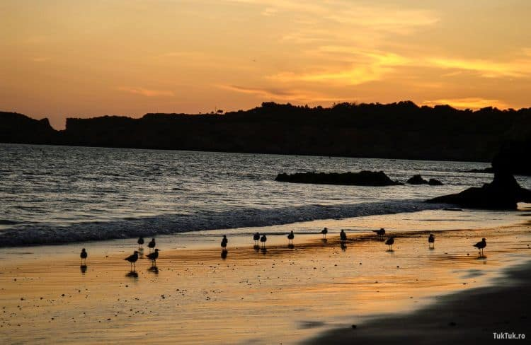 Apusul pe Praia da Rocha e fabulos
