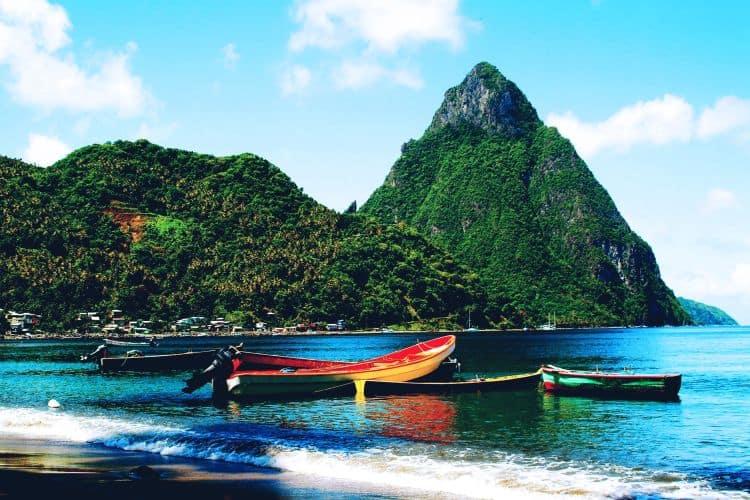 St. Lucia, raiul pe pamant