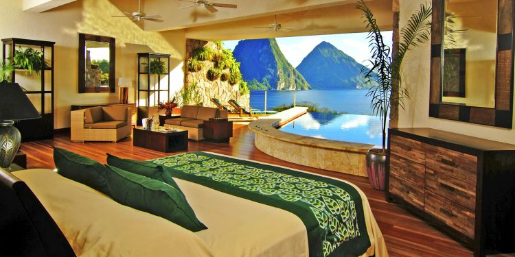 Hotel Jade Mountain  10 hoteluri de lux aflate in cadre naturale de vis jade mountain