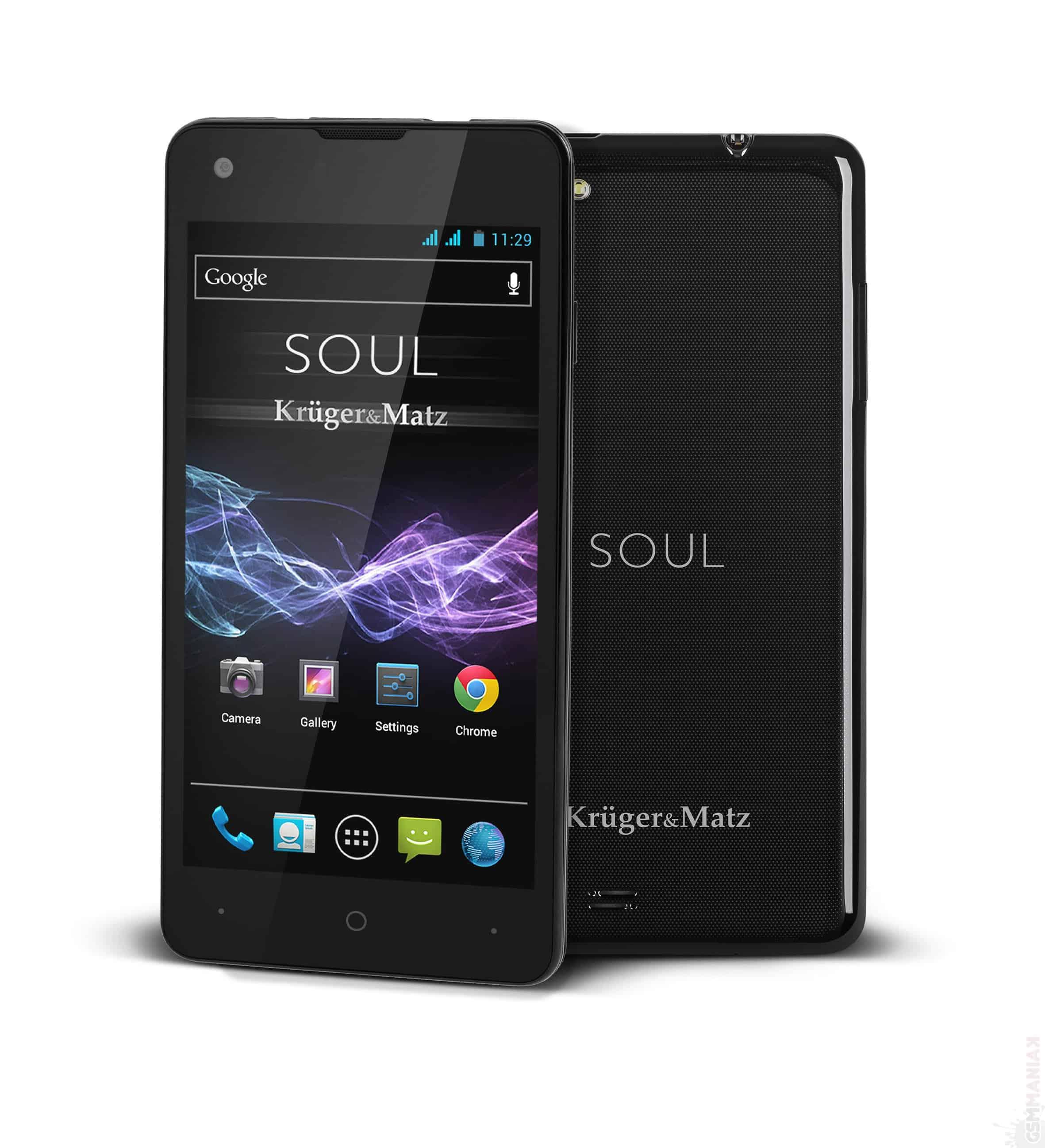 soul  Soul 2, de la Krüger&Matz, un smartphone elegant soul