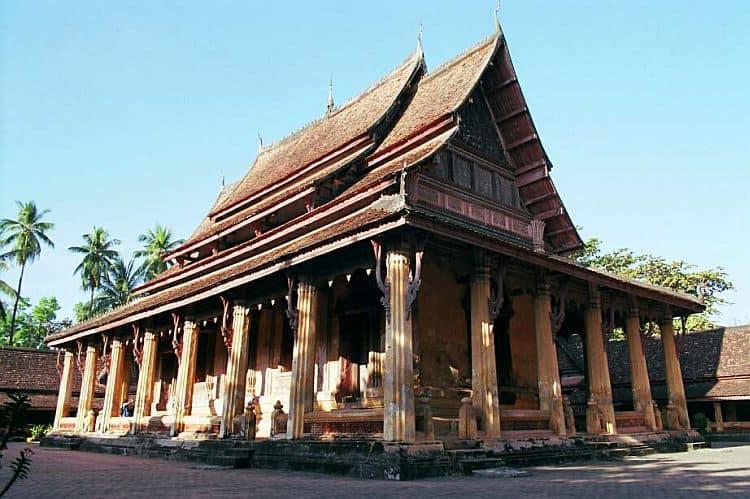 Templul Wat Sisaket din Vientiane, capitala Laosului indochina In cautarea comorilor din Indochina Wat Sisaket