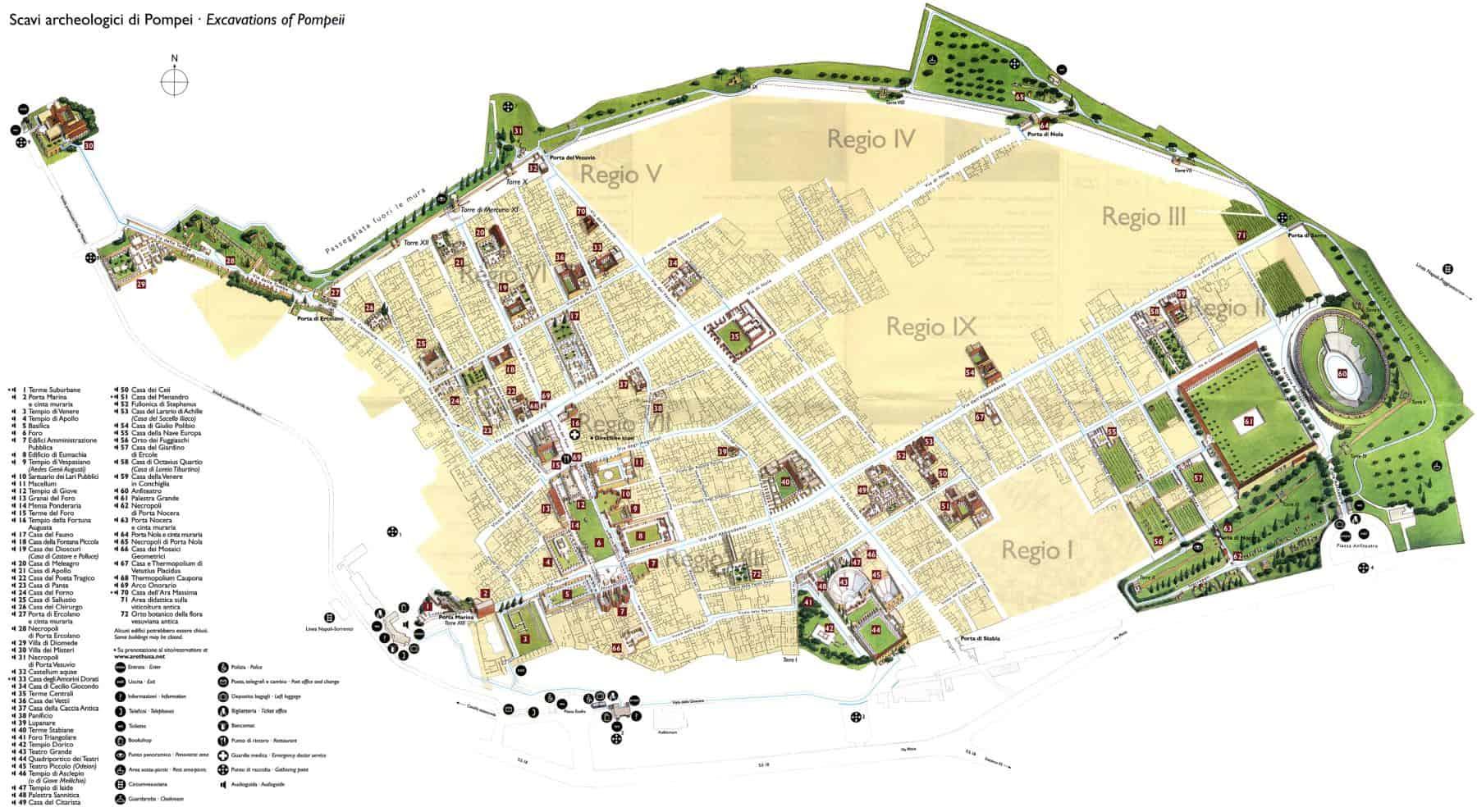 Harta Pompeii