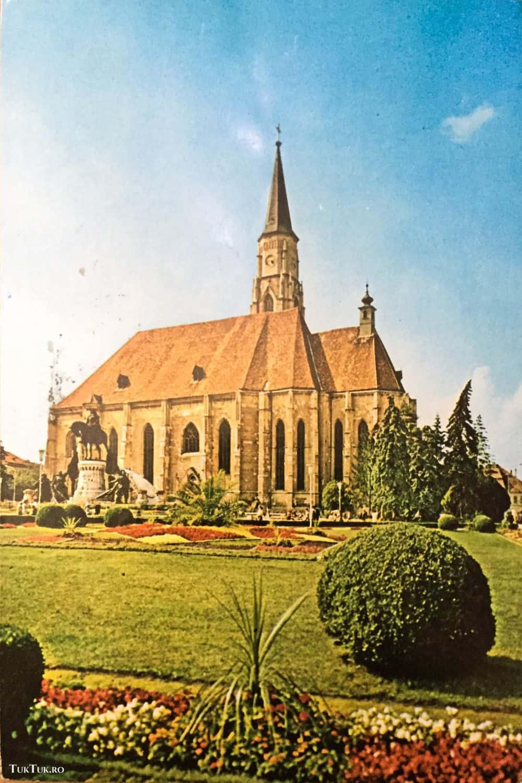 Cluj Napoca, biserica Sf. Mihail, 1974. Foto: C. Popescu ilustrate din Romania 13 ilustrate vechi din România Cluj C Popescu bis Sf Mihail 1974