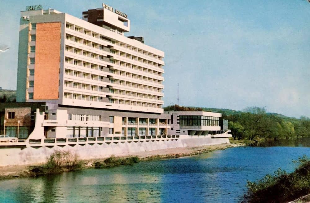 Oradea, Hotel Dacia. Foto: I. Oprea ilustrate din Romania 13 ilustrate vechi din România Oradea Hotel Dacia I