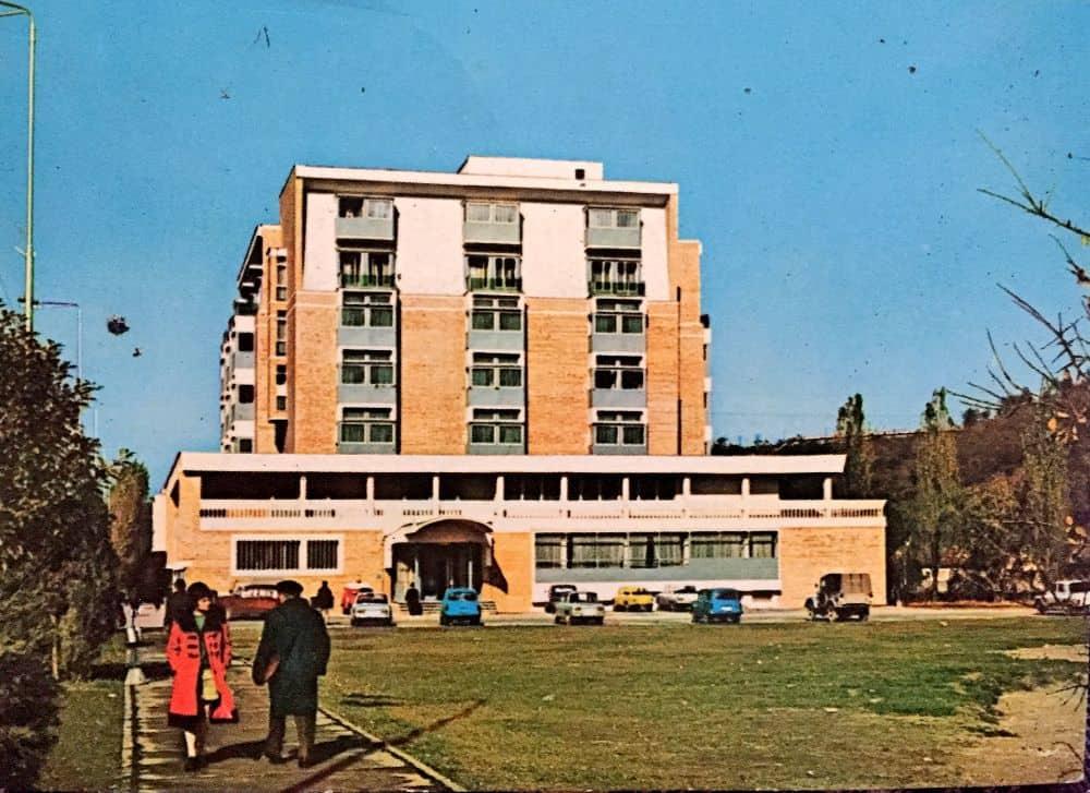 Reșița, Hotel Semenicul, 1973 ilustrate din Romania 13 ilustrate vechi din România Resita Hotel Semenicul 1973
