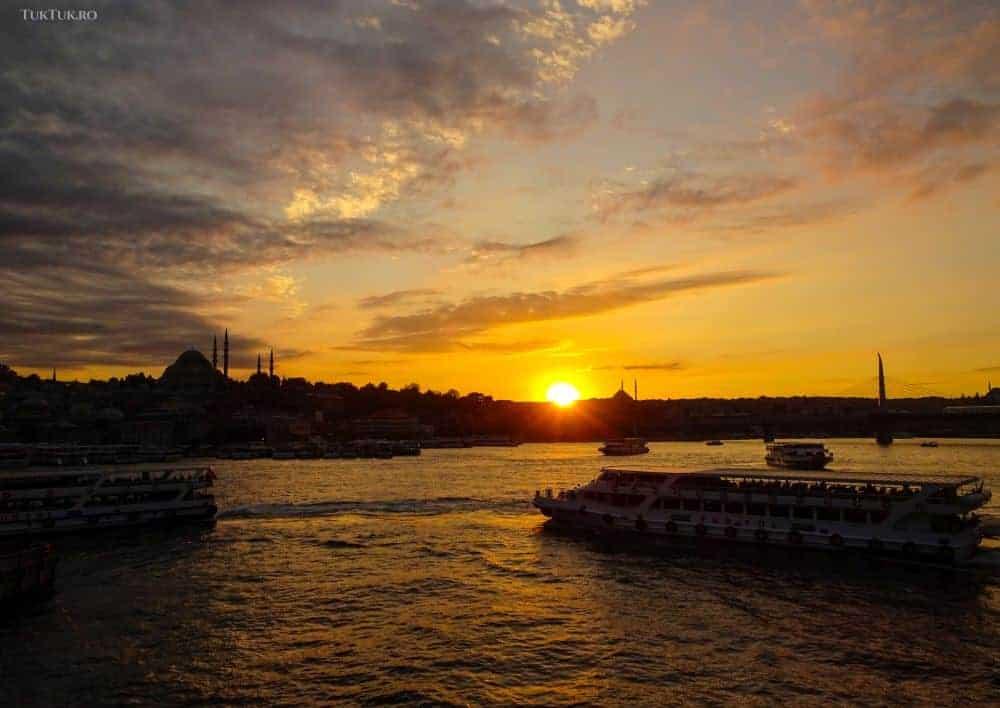 Apusul de pe podul Galata, din Istanbul - de neprețuit istanbul Istanbul - două zile pe malul Bosforului istanbul apus