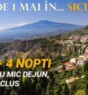 Hai de 1 Mai în… Sicilia! 315 euro – 4 nopți, hotel 4 stele cu mic dejun, zbor inclus