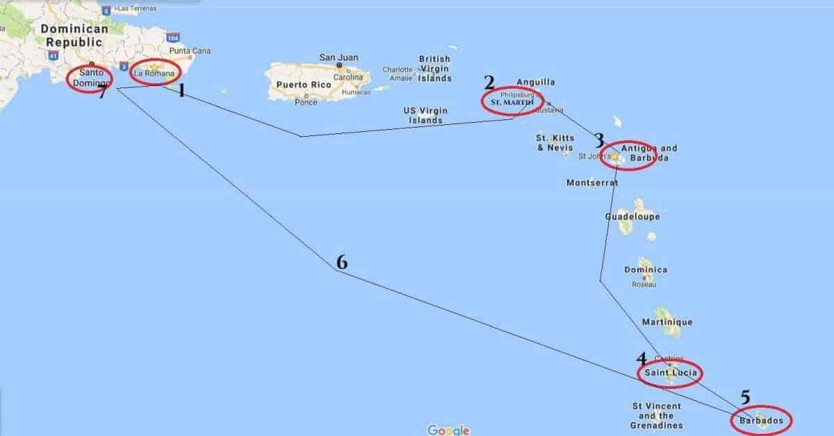 croaziera caraibe Croazieră în Caraibe: 1- Vasul de croazieră traseu caraibe 1