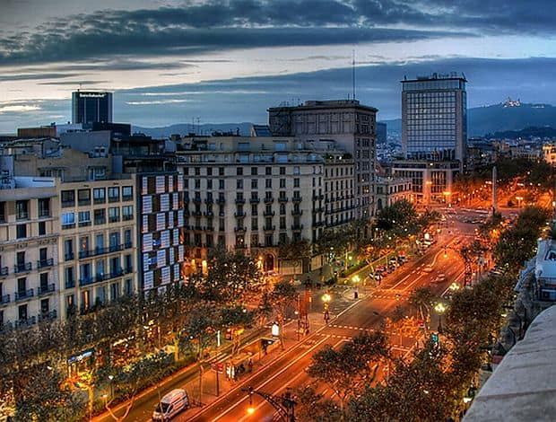 obiective turistice in Barcelona passeig de gracia
