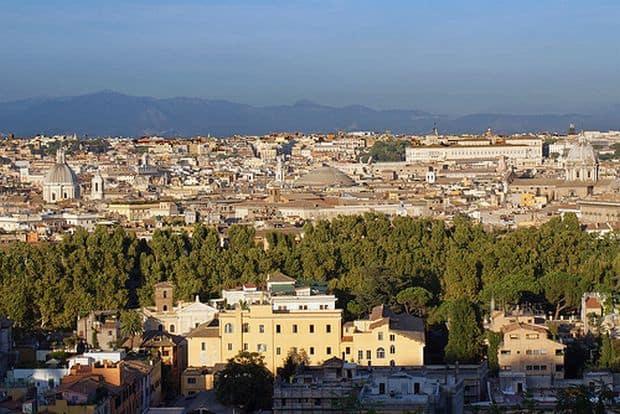 Roma, vazuta din Parcul Gianicolo
