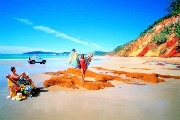 Mai multe culori pe Rainbow Beach din Australia