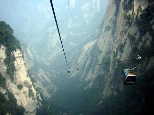 Mount Hua's Cable Car