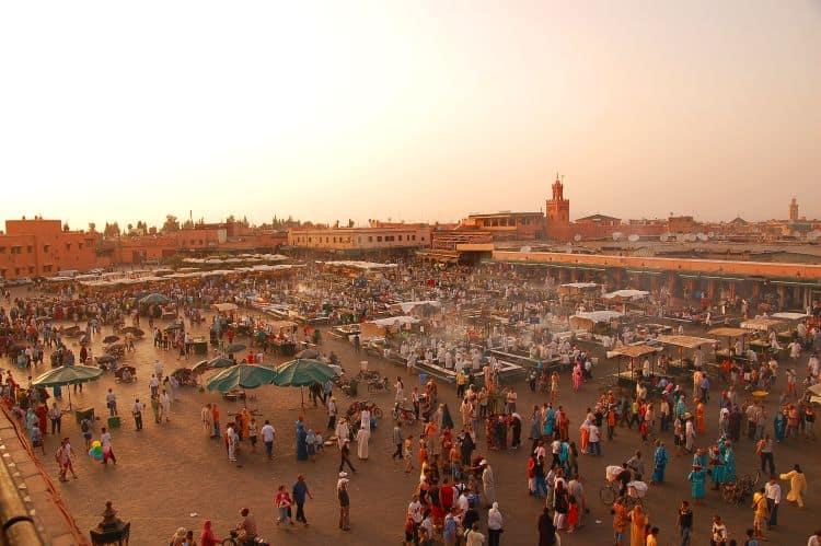 Celebra piata Djemaa El Fna, din Marrakesh