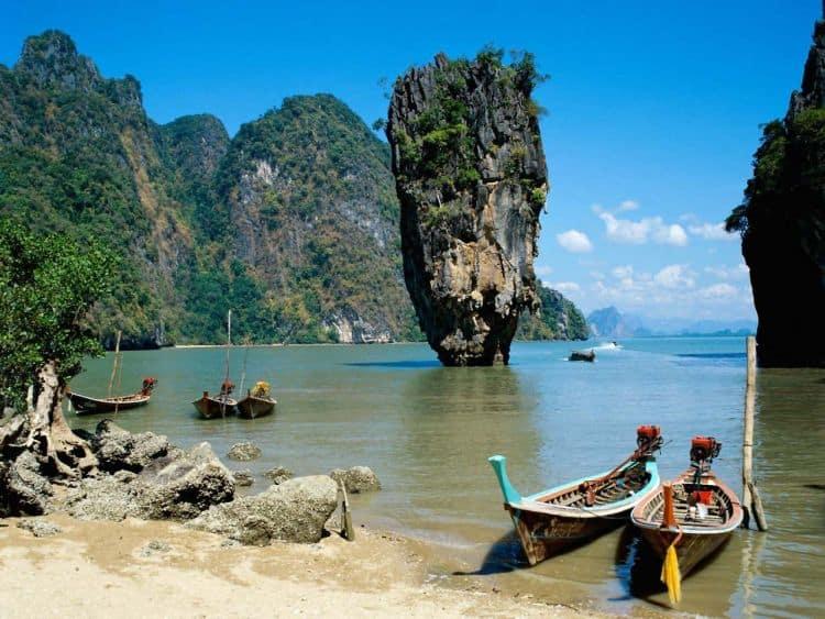 Golful Phang-Nga, decor de film, decor de rai