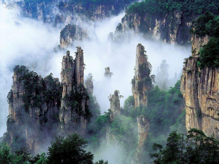 Muntele Tianzi, sursa de inspiratie pentru filmul Avatar