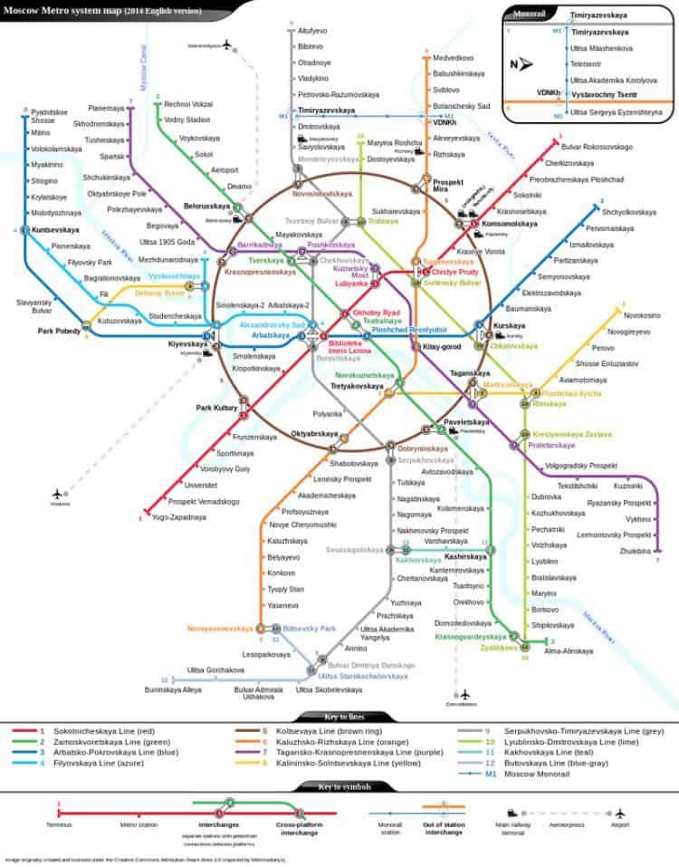 Statiile De Metrou Din Moscova
