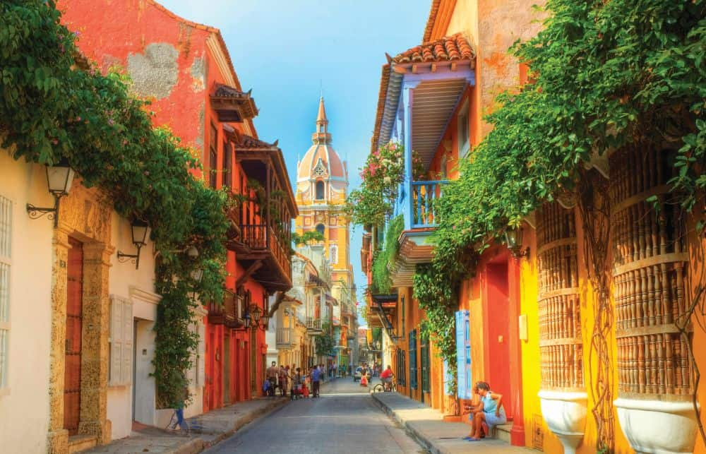 Frumosul oraș Cartagena, din Columbia. Foto: ovationdmc.com