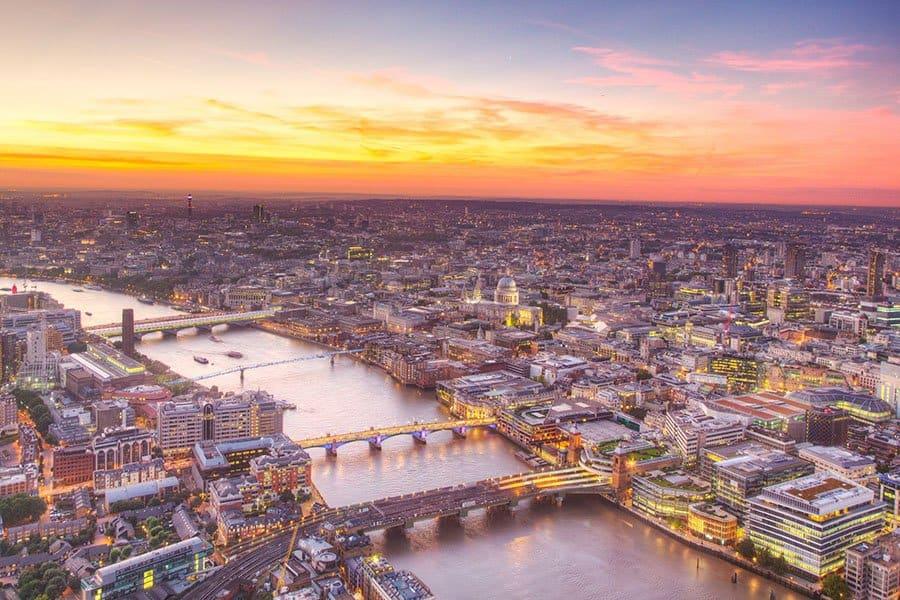 Tamisa, fluviul care străbate Londra. Foto: Shuterstock