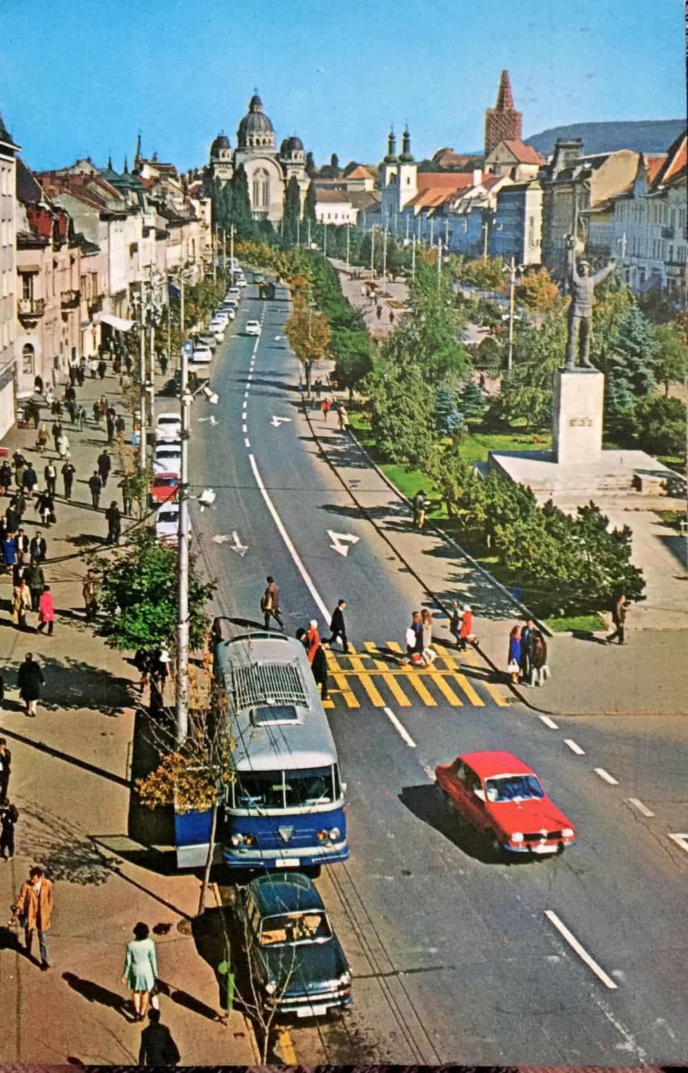 Tg. Mureș, Piața Trandafirilor. Foto: Z. Haragos