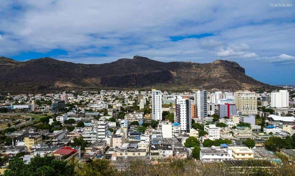 Capitala Port Louis, văzută din Citadelă